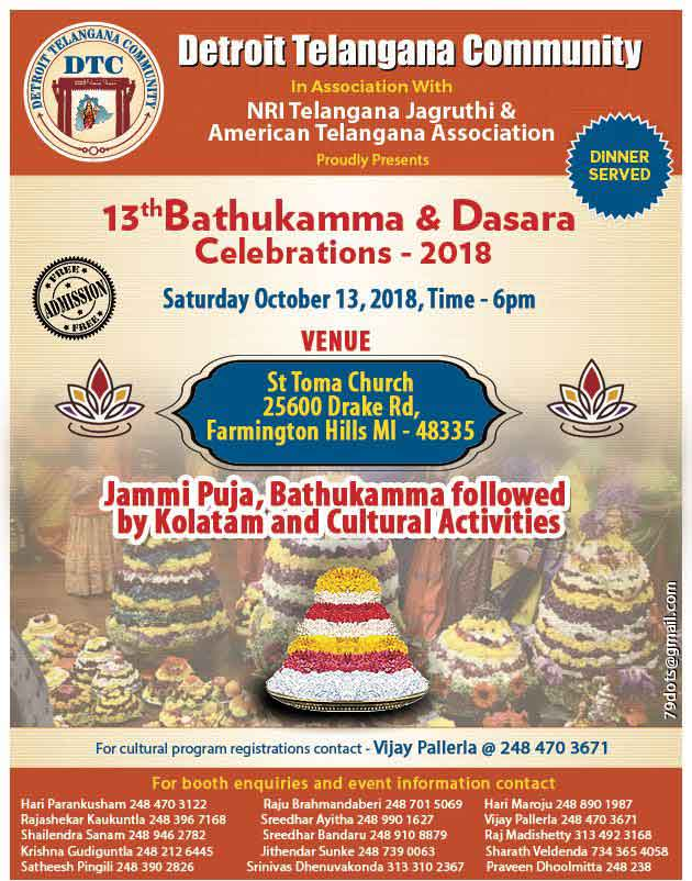 Bathukamma Dasara Celebrations 2018